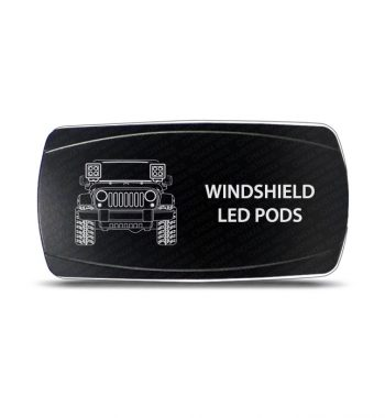 CH4x4 Rocker Switch Jeep Wrangler JK Windshield LED Pods Symbol - Horizontal