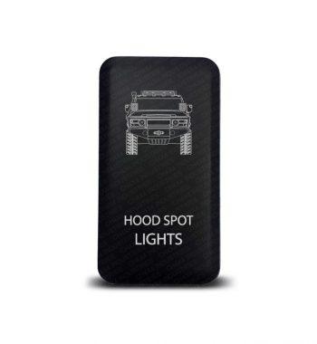 CH4x4 Toyota Push Switch FJ Cruiser Hood Spot Lights Symbol