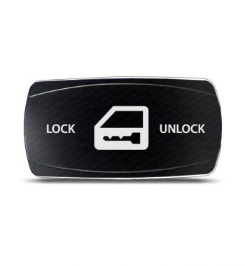 CH4x4 Rocker Switch Door Lock Symbol - Horizontal