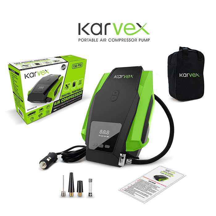 Karvex Digital Portable Air Compressor Pump