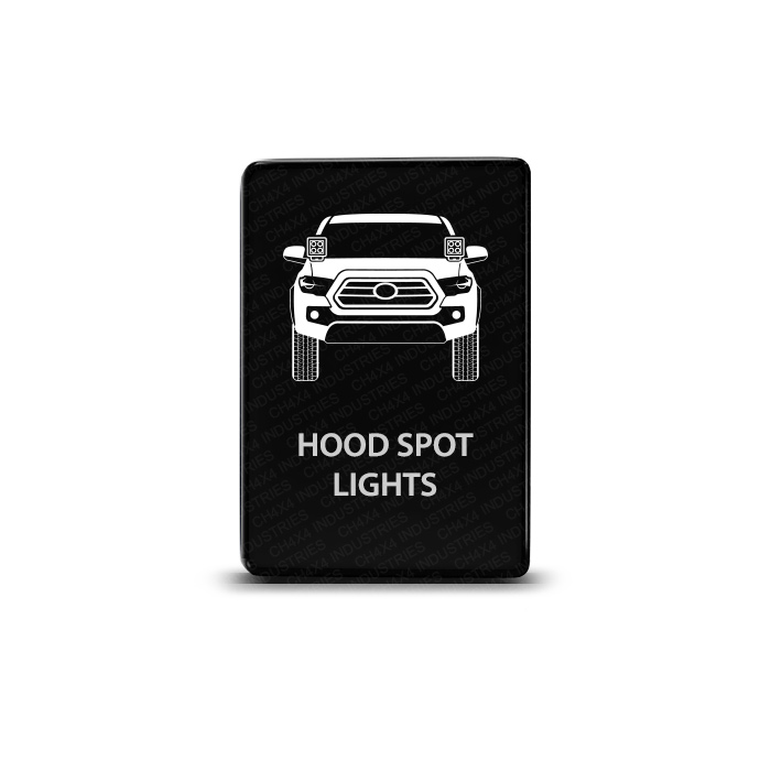 CH4x4 Toyota Small Push Switch Tacoma 3rd Gen Hood Spot Lights Symbol