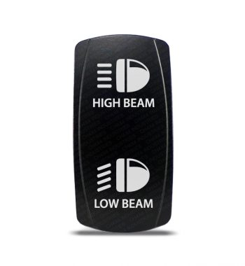 CH4x4 Rocker Switch DPDT ON-OFF-ON High - Low Beam Symbol
