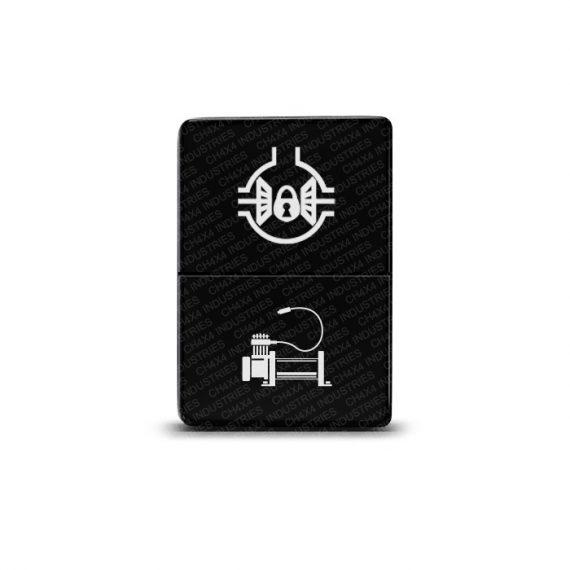 CH4x4 Small Dual Push Switch for Toyota – Locker & Compressor Symbol 1