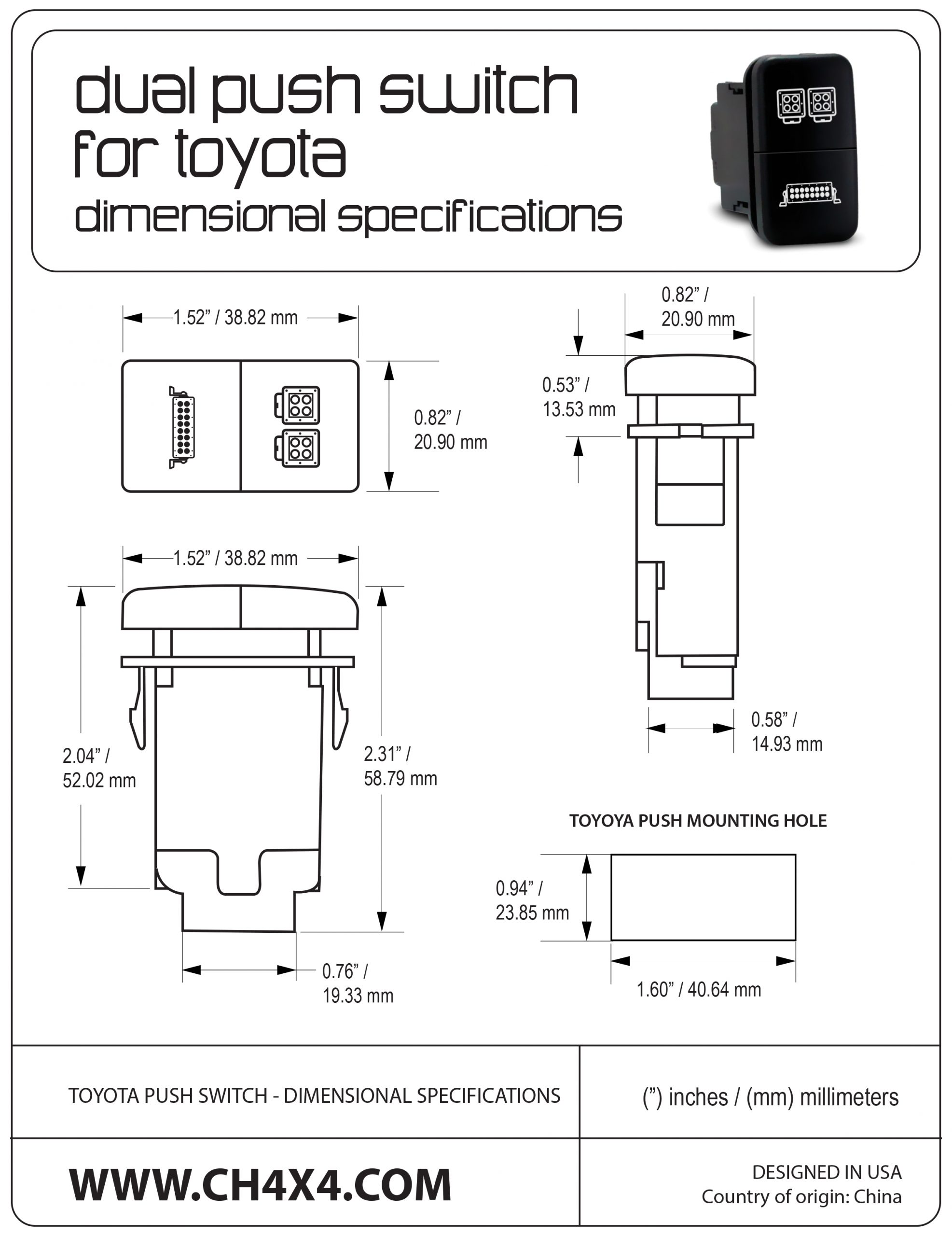 Toyota-Push-Switch